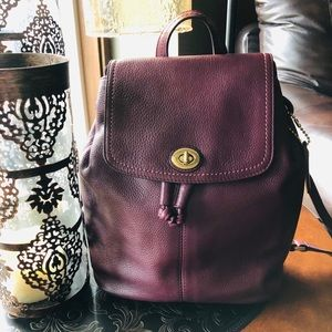 COACH Oxblood Leather Backpack 🎒 Daypack Medium